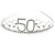 Bridal/ Wedding/ Prom Rhodium Plated Clear Crystal '50' Queen Classic Tiara - view 6