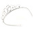Bridal/ Wedding/ Prom Rhodium Plated Clear Crystal '50' Queen Classic Tiara - view 4