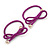 Two Piece Peony Pink Bow with Gold Tone Bead Design Hair Elastic Set/ Ideal For School