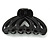 Large Black Acrylic Heart Hair Claw - 90mm Width - view 7