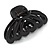 Large Black Acrylic Heart Hair Claw - 90mm Width - view 3
