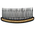 Black Acrylic With Champagne/ AB Crystal Accent Hair Comb - 11cm - view 6