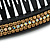 Black Acrylic With Champagne/ AB Crystal Accent Hair Comb - 11cm - view 4