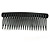 Black Acrylic With Champagne/ AB Crystal Accent Hair Comb - 11cm - view 5