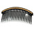 Black Acrylic With Champagne/ AB Crystal Accent Hair Comb - 11cm - view 7