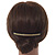 Black Acrylic With Champagne/ AB Crystal Accent Hair Comb - 11cm - view 2