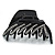 Black Acrylic Hair Claw - 85mm Width - view 2