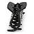 Black Acrylic Hair Claw - 85mm Width - view 5