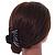 Black Acrylic Hair Claw - 85mm Width - view 4