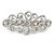 Bridal Wedding Prom Silver Tone Filigree Diamante Floral Barrette Hair Clip Grip - 80mm Across - view 4
