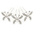 Bridal/ Wedding/ Prom/ Party Set Of 3 Rhodium Plated Clear Austrian Crystal Butterfly Hair Pins