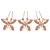 Bridal/ Wedding/ Prom/ Party Set Of 3 Rose Gold Tone Clear Austrian Crystal Butterfly Hair Pins - view 7