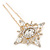 Bridal/ Wedding/ Prom/ Party Single Clear Crystal Star Hair Pin In Gold Tone - 80mm L - view 5
