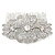 Bridal/ Wedding/ Prom/ Party Art Deco Style Rhodium Plated Austrian Crystal Hair Comb - 80mm W - view 6