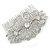 Bridal/ Wedding/ Prom/ Party Art Deco Style Rhodium Plated Austrian Crystal Hair Comb - 80mm W - view 7