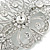 Bridal/ Wedding/ Prom/ Party Art Deco Style Rhodium Plated Austrian Crystal Hair Comb - 80mm W - view 4