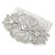 Bridal/ Wedding/ Prom/ Party Art Deco Style Rhodium Plated Austrian Crystal Hair Comb - 80mm W - view 8