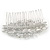 Bridal/ Wedding/ Prom/ Party Art Deco Style Rhodium Plated Austrian Crystal Hair Comb - 80mm W - view 5