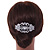 Bridal/ Wedding/ Prom/ Party Art Deco Style Rhodium Plated Austrian Crystal Hair Comb - 80mm W - view 2