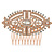 Bridal/ Wedding/ Prom/ Party Art Deco Style Rose Gold Tone Austrian Crystal Hair Comb - 85mm W