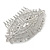 Bridal/ Wedding/ Prom/ Party Art Deco Style Rhodium Plated Tone Austrian Crystal Hair Comb - 85mm W - view 6