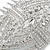Bridal/ Wedding/ Prom/ Party Art Deco Style Rhodium Plated Tone Austrian Crystal Hair Comb - 85mm W - view 4