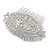 Bridal/ Wedding/ Prom/ Party Art Deco Style Rhodium Plated Tone Austrian Crystal Hair Comb - 85mm W - view 8