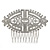 Bridal/ Wedding/ Prom/ Party Art Deco Style Rhodium Plated Tone Austrian Crystal Hair Comb - 85mm W