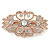 Bridal/ Wedding/ Prom/ Party Art Deco Style Rose Gold Tone Austrian Crystal Barrette Hair Clip Grip - 80mm Across - view 7