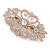 Bridal/ Wedding/ Prom/ Party Art Deco Style Rose Gold Tone Austrian Crystal Barrette Hair Clip Grip - 80mm Across - view 10