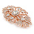 Bridal/ Wedding/ Prom/ Party Art Deco Style Rose Gold Tone Austrian Crystal Barrette Hair Clip Grip - 80mm Across - view 6