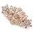 Medium Rose Gold Tone Filigree Diamante Floral Barrette Hair Clip Grip - 70mm Across - view 8