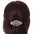 Medium Rose Gold Tone Filigree Diamante Floral Barrette Hair Clip Grip - 70mm Across - view 2