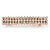 Classic Clear Crystal Square Barrette Hair Clip Grip In Rose Gold Plated Metal - 80mm Across - view 6