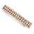 Classic Clear Crystal Square Barrette Hair Clip Grip In Rose Gold Plated Metal - 80mm Across - view 8