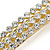 Classic Clear Crystal Square Barrette Hair Clip Grip In Gold Plated Metal - 80mm Across - view 3