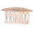 Bridal/ Wedding/ Prom/ Party Rose Gold Tone Clear Crystal, White Faux Pearl Hair Comb - 80mm - view 1