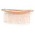 Bridal/ Wedding/ Prom/ Party Rose Gold Tone Clear Crystal, White Faux Pearl Hair Comb - 80mm - view 5