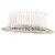 Bridal/ Wedding/ Prom/ Party Silver Plated Clear Crystal, Cream Faux Pearl Hair Comb - 80mm - view 6