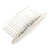 Bridal/ Wedding/ Prom/ Party Silver Plated Clear Crystal, Cream Faux Pearl Hair Comb - 80mm - view 4