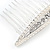 Bridal/ Wedding/ Prom/ Party Silver Plated Clear Crystal, Cream Faux Pearl Hair Comb - 80mm - view 3