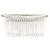 Bridal/ Wedding/ Prom/ Party Silver Plated Clear Crystal, Cream Faux Pearl Hair Comb - 80mm - view 5