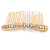 Bridal/ Wedding/ Prom/ Party Gold Tone Clear Austrian Crystal Bow Side Hair Comb - 80mm - view 7