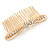 Bridal/ Wedding/ Prom/ Party Gold Tone Clear Austrian Crystal Bow Side Hair Comb - 80mm - view 6