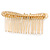 Bridal/ Wedding/ Prom/ Party Gold Tone Clear Austrian Crystal Bow Side Hair Comb - 80mm - view 5