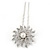 Bridal/ Wedding/ Prom/ Party Single Clear Crystal White Glass Pearl Flower Hair Pin In Silver Tone - 80mm L - view 3