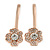 2 Bridal/ Prom Clear Crystal Flower Hair Grips/ Slides In Rose Gold Tone - 60mm Across - view 4