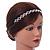 Wedding/ Bridal Clear Crystal Square Motif Elastic Hair Band/ Elastic Band/ Headband - 50cm L (not stretched) - view 3
