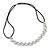 Wedding/ Bridal Clear Crystal Square Motif Elastic Hair Band/ Elastic Band/ Headband - 50cm L (not stretched)