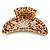 Large Gold Tone Animal Print Acrylic Hair Claw/ Clamp (Brown/ Sand) - 95mm Long - view 4